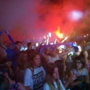 TISUĆE NAVIJAČA OKUPIRALO POLUOTOK Veličanstvena proslava Tornada