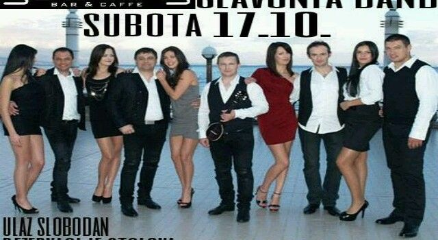 Slavonija band nastupa u Yachting baru 17. listopada