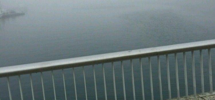 POGLED S MOSTA Od guste magle ništa se ne vidi