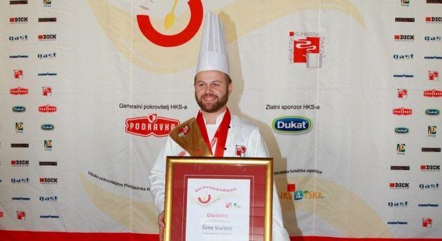 ZADRANI SLAVILI NA DRŽAVNOM PRVENSTVU KUHARA Šime Vučetić najbolji hrvatski kuhar!
