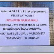 OBAVIJESTI PO SMILJEVCU U četvrtak vatromet u sjećanje na prerano preminulog Nina Šturu (18)