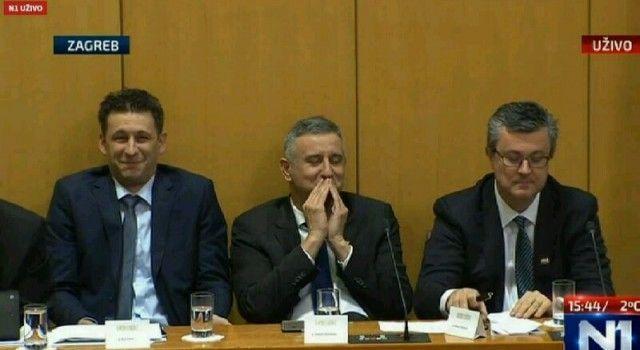 Božo Petrov i Tomislav Karamarko umirali od smijeha kraj ozbiljnog mandatara Tima