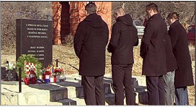 Odavanje počasti članovima obitelji Čengić poginulim u Domovinskom ratu