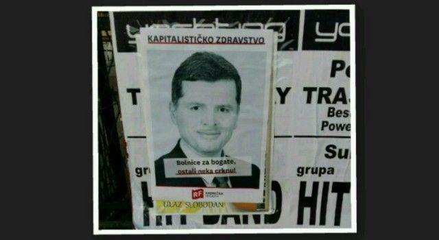 """""""BOLNICE ZA BOGATE, OSTALI NEKA CRKNU!"""" Zadar oblijepljen plakatima ministra Nakića!"""