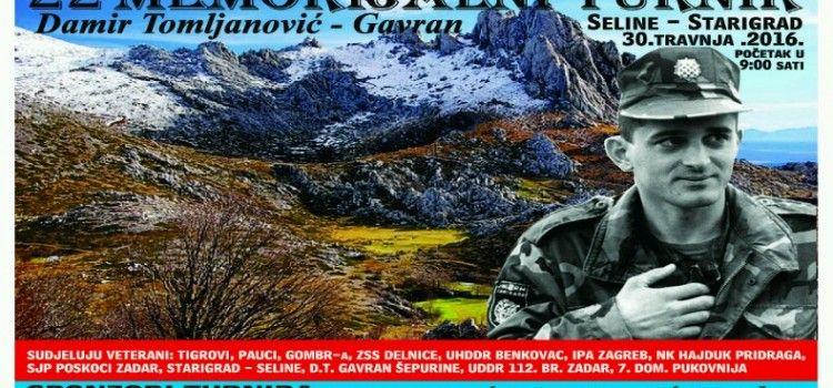 MEMORIJALNI TURNIR U SELINAMA U sjećanje na Damira Tomljanovića Gavrana