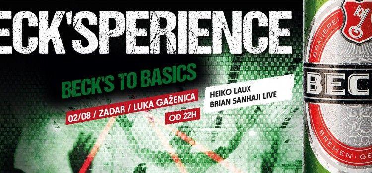 BECK'SPERIENCE PARTY U ZADRU: DJ – i Heiko Laux i Brian Sanhaji za savršeno glazbeno – vizualno krstarenje