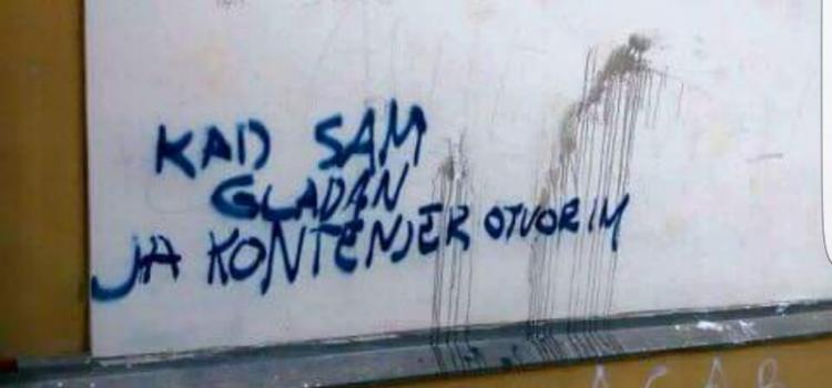 GRAFIT U ZADRU: Kada sam gladan, ja kontejner otvorim…