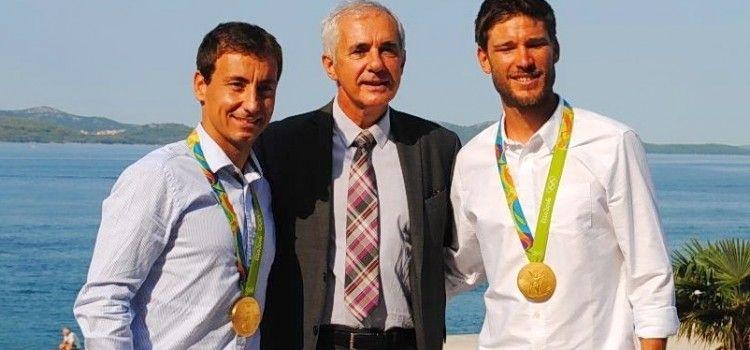 Župan Stipe Zrilić primio zlatne olimpijce Šimu Fantelu i Igora Marenića