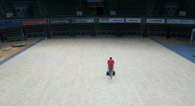 PRIPREME ZA DAVIS CUP Košarkaška dvorana pretvara se u teniski teren