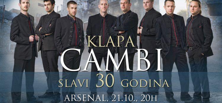 U PETAK Klapa Cambi slavi 30. rođendan koncertom u Arsenalu