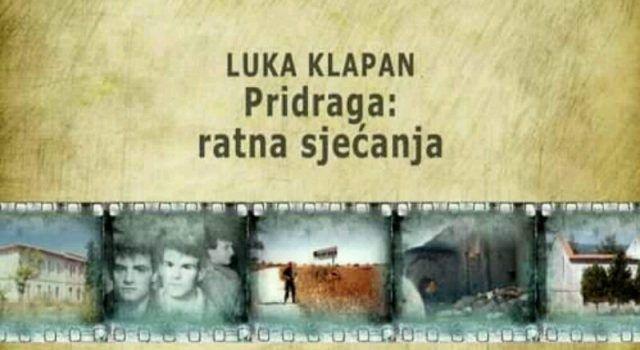 "U BENKOVCU Projekcija filma ""Pridraga: Ratna sjećanja"" autora Luke Klapana"