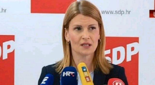 Sabina Glasovac: Neprihvatljivo je da predsjednik SDP-a čestita Bujancu ženidbu