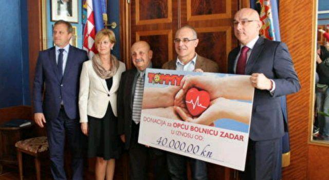 Zadarskoj bolnici uručena donacija u iznosu od 40.000 kn!