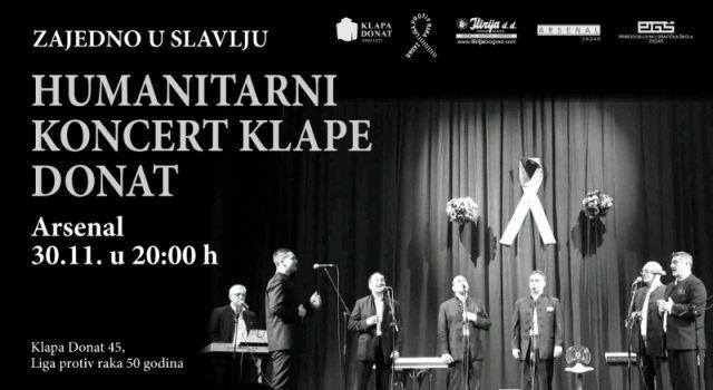 Humanitarni koncert klape Donat koja slavi 45 godina postojanja