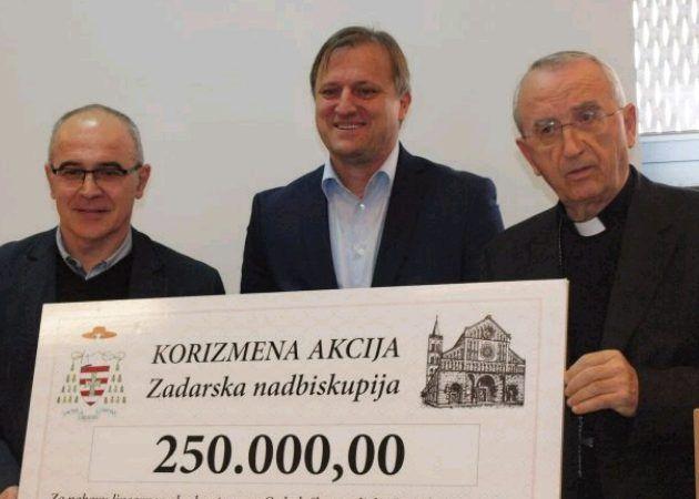 Nadbiskupija donirala 250.000 kn za kupnju aparata za oboljele od raka