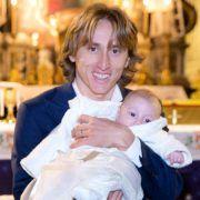 SLAVLJE U OBITELJI Luka Modrić krstio kćer