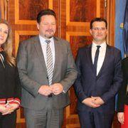 Ministar uprave Lovro Kuščević na radnom sastanku u Zadru