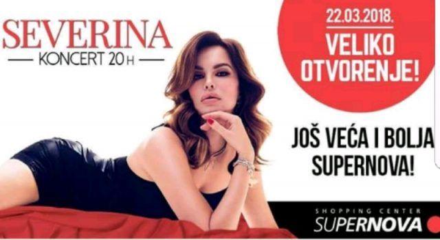Otvorenje novog dijela Supernove – 22. ožujka uz koncert Severine