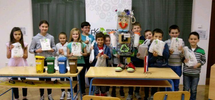 Edukacija djece u Kruševu, Karinu i Obrovcu o korisnosti otpada