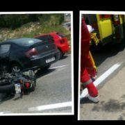 FOTO Teška prometna nesreća u Bibinjama – stradao motociklist!