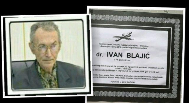 U utorak posljednji ispraćaj dr. Ivana Blaića koji je spasio tisuće pacijenata