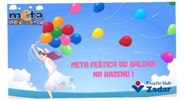Plivački klub Zadar i Meta baloni organiziraju fešticu na bazenu