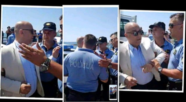 Policija prekinula prosvjed na Virskom mostu, uhićen Kristijan Kapović