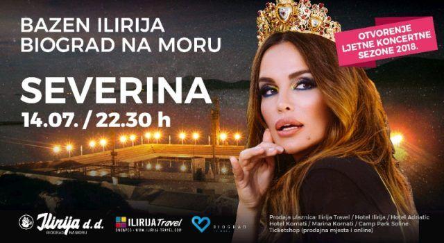 Severina ovu subotu otvara koncertnu sezonu bazena Ilirija u Biogradu