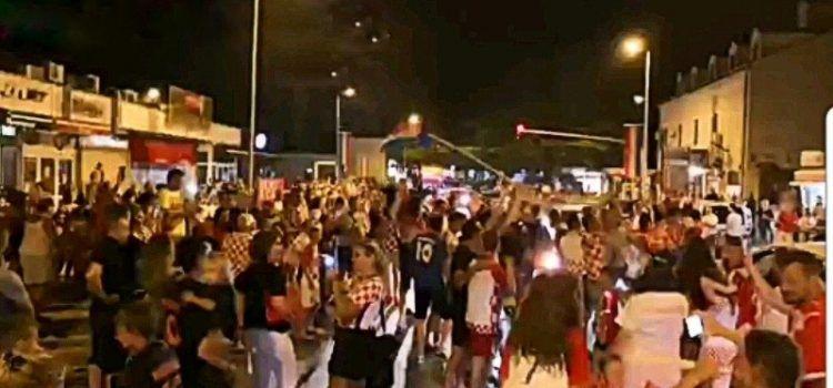 LUDNICA U BIOGRADU Slavi se pobjeda Hrvatske i ulazak u finale!