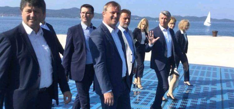 GALERIJA Jandroković u posjeti Zadru, sastao se sa Longinom i Dukićem