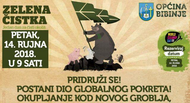 """Općina Bibinje priključuje se globalnoj ekološkoj kampanji """"Zelena čistka"""""""