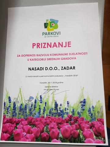 priznanje za doprinos razvoju komunalne djelatnosti (1) 30.11