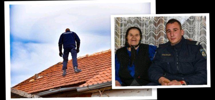LIJEPA GESTA Policajci nakon bure popravili krov 84-godišnjoj bakici