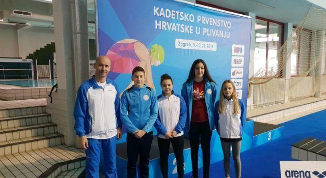 Djeca iz Plivačkog kluba Zadar sudjelovala na Prvenstvu Hrvatske za kadete