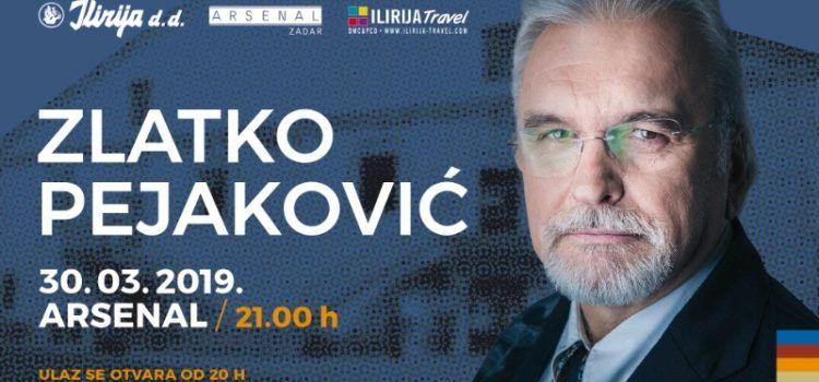 U subotu koncert Zlatka Pejakovića u Arsenalu
