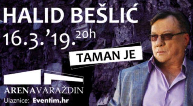 Veliki koncert Halida Bešlića u varaždinskoj Areni – 16. ožujka
