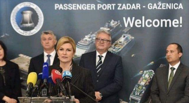 Predsjednica Grabar Kitarović otvorila zgradu Putničkog terminala u Gaženici