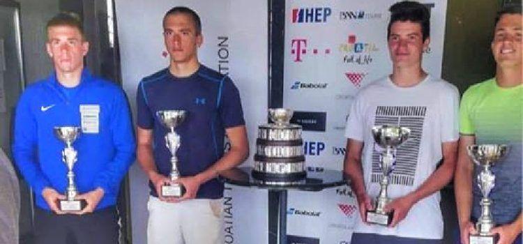 Mladi tenisač iz Zadra Marin Jamnicki viceprvak Hrvatske u parovima do 18 godina!