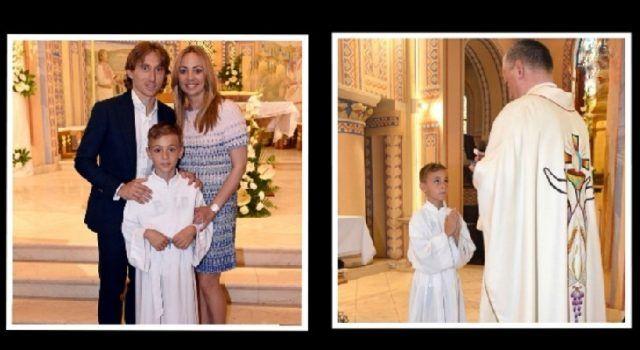 Svečano u obitelji Luke Modrića: Sin Ivano primio sakrament Prve pričesti