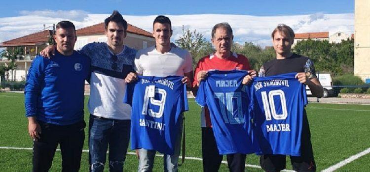Mlade nogometaše otoka Ugljana posjetio reprezentativac Ivan Santini i društvo