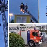 Opet zaglavio vrtuljak Fun parka Biograd: Djeca sat i pol na visini čekala vatrogasce