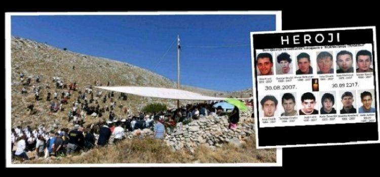 SJEĆANJE NA HEROJE Četrnaest godina od pogibije vatrogasaca na Kornatima