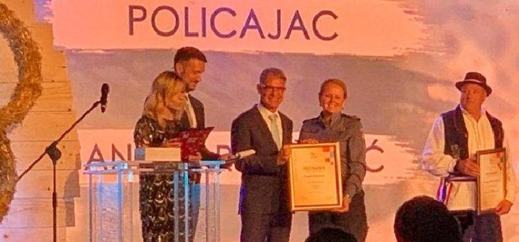 USPJEH I PRIZNANJE Zadranka Sandra Rončević proglašena policajkom godine!
