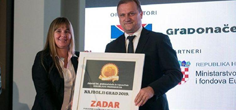 Grad Zadar proglašen najboljim u kategoriji povlačenja sredstava iz EU fondova