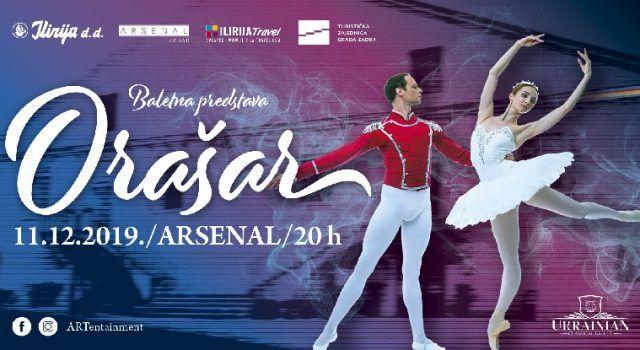 Vrhunski svjetski baletani na pozornici Arsenala – Baletna predstava Orašar!