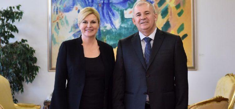 Načelnik Martin Baričević i predstavnici općina na prijemu kod predsjednice