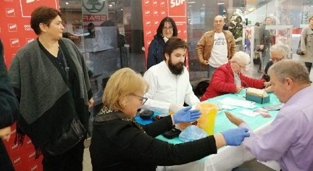 SDP-ovoj akciji mjerenja tlaka i šećera pristupilo stotinjak građana