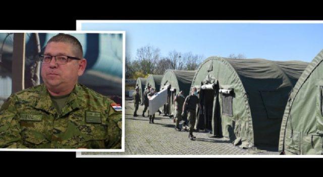 General Fuzul i vojnici u 72 sata podigli kamp za prihvat pacijenata