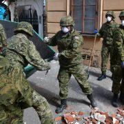 VELIKA POMOĆ Hrvatska vojska sudjeluje u sanaciji posljedica potresa u Zagrebu