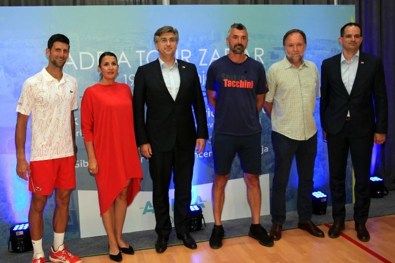 Novak Dokovic, Nikolina Babic, Andrej Plenkovic, Goran Ivanisevic, Franc Regina, Ivan Malenica-800x533